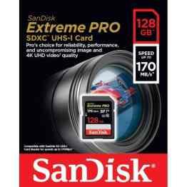 SanDisk Extreme Pro SDXC Card 128GB